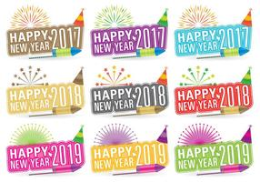 New Year Titles vector