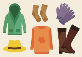 Vector libre de la ropa del otoño
