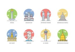 Free Southeast Asia Landmark Vector