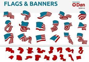 USA Flags & Banner Vectors