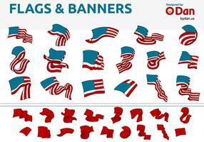 Bandeiras dos Estados Unidos e vetores da bandeira