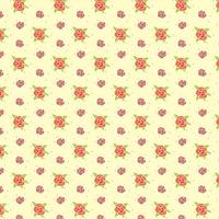 Little Pansy Flowers Pattern vector