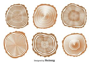 Hout Logs Collection Vector