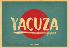 Retro-Stil Yacuza Illustration