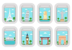 Free Travel Around The World Vector