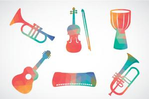 Abstract Colorful Music Instrument Vector