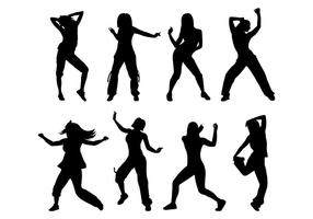Vector Silhouette Of Zumba Motion