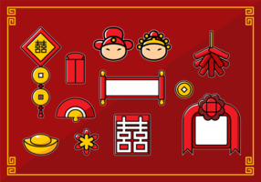 Chinese Wedding Collection vector