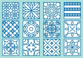 Azulejo Icons vector