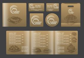 Classic Food Square Menu vector