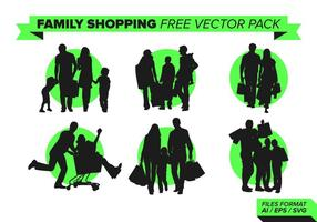 Shopping familial pack vectoriel gratuit vol. 2