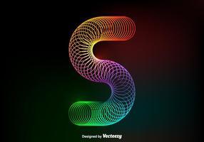 Gratis Vector Kleurrijke Slinky