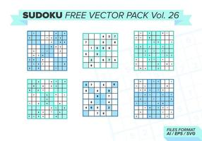 Sudoku Free Vector Pack Vol. 26