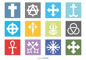 Iconos de símbolos religiosos