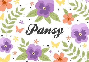 Free Flower Pansy Hintergrund Vektor