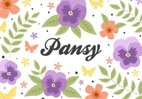 Flower Pansy Background Vector