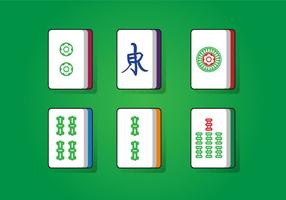 Mahjong lucky square vector