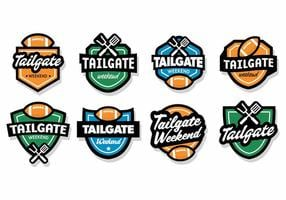 Free Tailgate Badges Vector