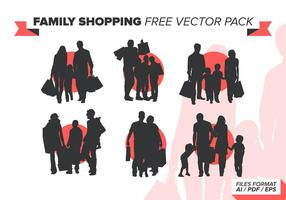 Familj Shopping Gratis Vector Pack