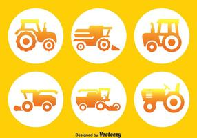 Tractors Circle Icons