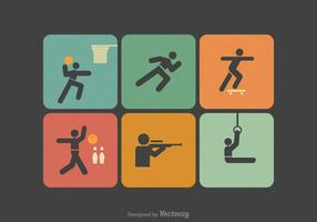 Iconos libres del vector de la figura del palillo del deporte