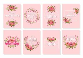 Gratuit Happy Mother's Day Flower Card Vector