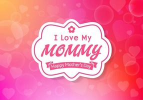 Festa della mamma Sfondo vettoriale