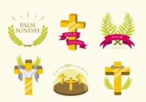 Paquet de vecteur Palm Sunday