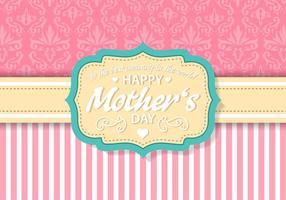 Vetor grátis do cartão do dia das mães do vintage