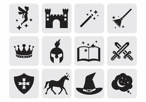 Fairy Tale Icons Vector