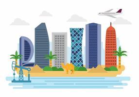 Bienvenido a Qatar Vector Paisaje