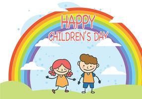 Gullig barn dag vektor