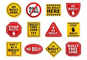 Bullying Sign Vector