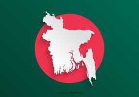 Vector libre del mapa de Bangladesh de papel