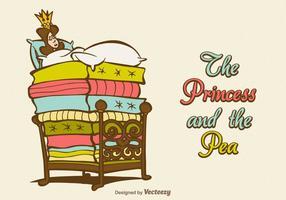Vecteur gratuit la princesse et le pois