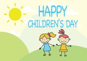 Vector del día de los niños de las niñas