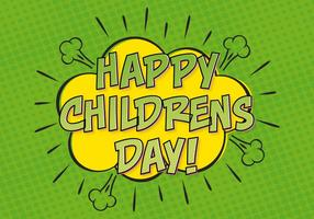 Comic Style Childrens Day Illustration