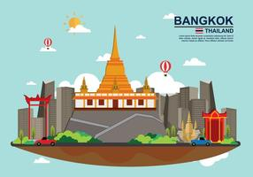 Free Bangkok Illustation