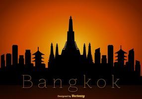 Vecteur bangkok skyline silhouette