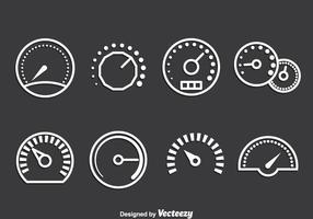 Meter Icons Vektor Set