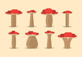 Vetor plano baobab