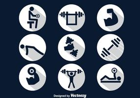 Squat Circle Icons Vector