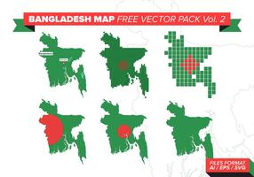 Bangladesh Mapa Libre Vector Pack Vol. 2