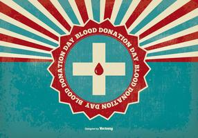 Blood Donation Day Retro Illustration
