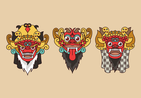 Barong Bali Indonesian Culture Vector