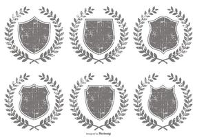 Grunge Crest Shapes vector