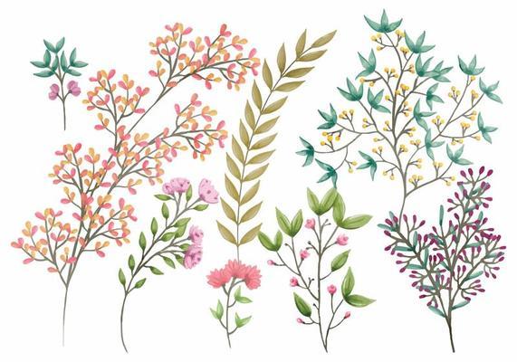 boho vector floral elements 122302 vector art at vecteezy  vecteezy