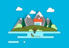 Mountain Home Vector Illustratie