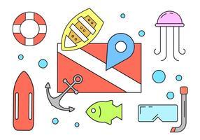 Iconos de playa gratis