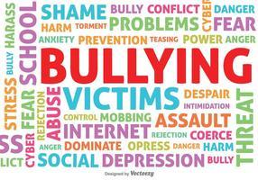 Bullying tipografiche sfondo vettoriale